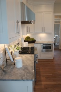White Brick Backsplash - Transitional - kitchen - The Fat ...