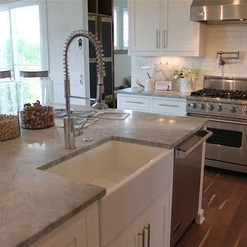 island kitchen hood wood floors alpine white granite design ideas