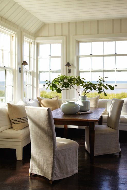 L Shaped Banquette  Cottage  dining room  Sawyer Berson