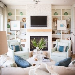 Fabrics For Chairs Striped Office Chair Without Wheels Fireplace Built Ins - Cottage Living Room Ashley Gilbreath