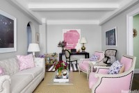 Pink and Gray Living Room - Contemporary - living room ...