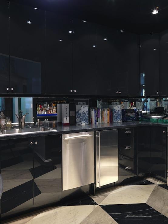Black Lacquer Cabinets  Contemporary  kitchen  Miles Redd