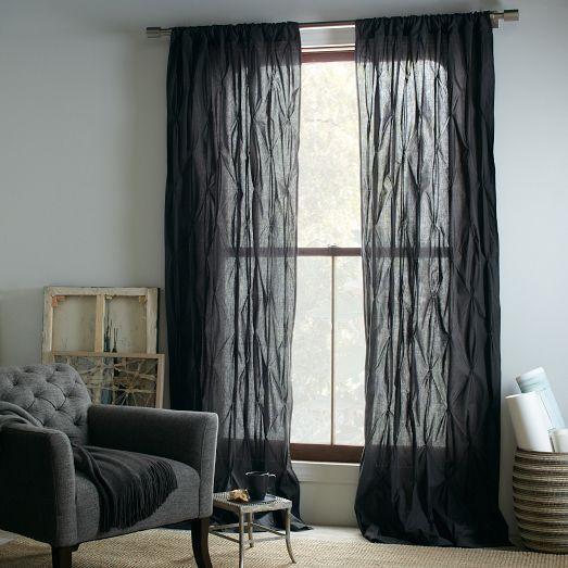 Urban Gray Ikat Curtain Panels