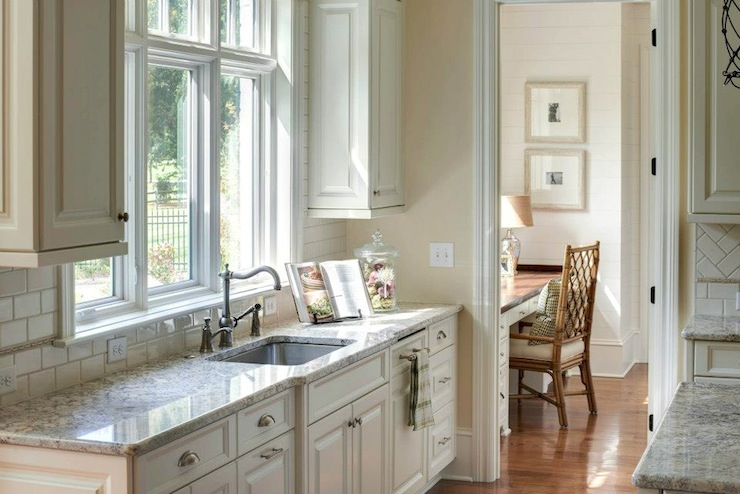 White Dove Cabinets  Traditional  kitchen  Sherwin