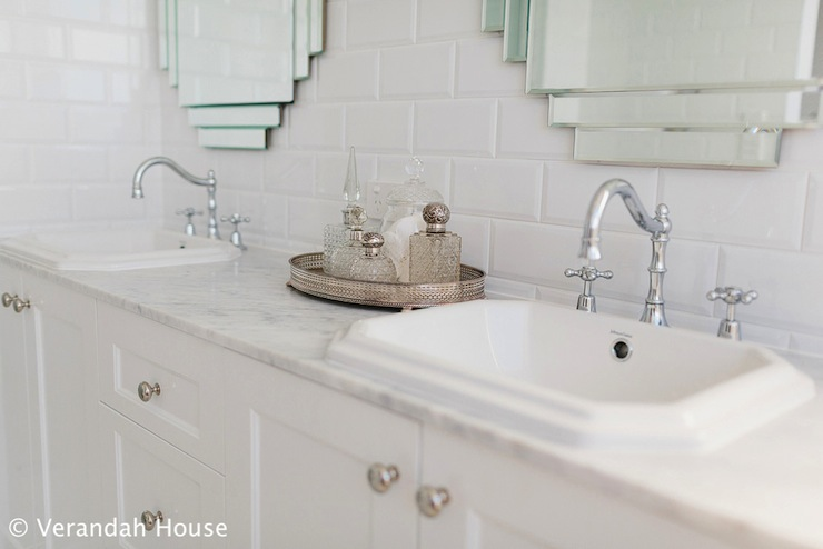 Art Deco Mirrors  Transitional  bathroom  Veranda House
