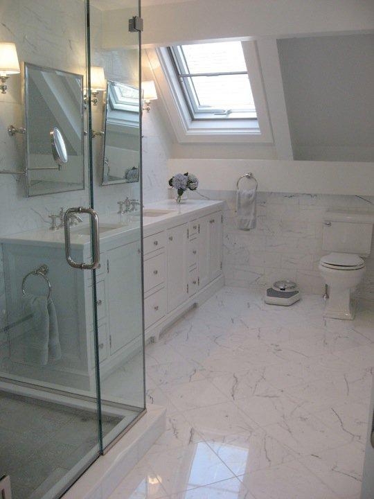Attic Bathroom  Transitional  bathroom  Nastasi Vail Design