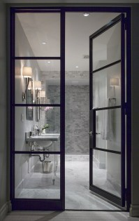 Glass and Steel Doors - Contemporary - bathroom - Ryan ...