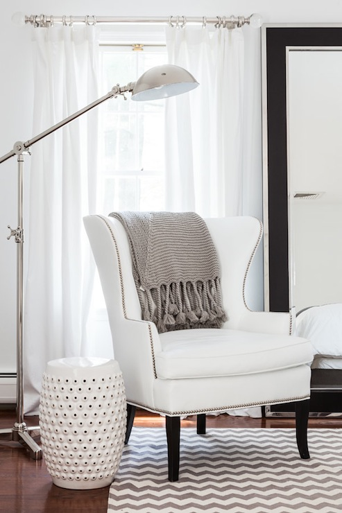 bedroom chair with blanket lazy boy massage gray chevron rug contemporary sissy and marley