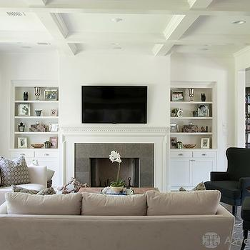 spindle arm chair lj events covers fireplace tv niche - contemporary living room northworks architects