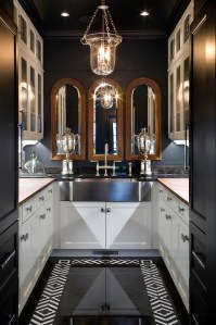 U Shaped Butler's Pantry - Eclectic - kitchen - Joy Tribout