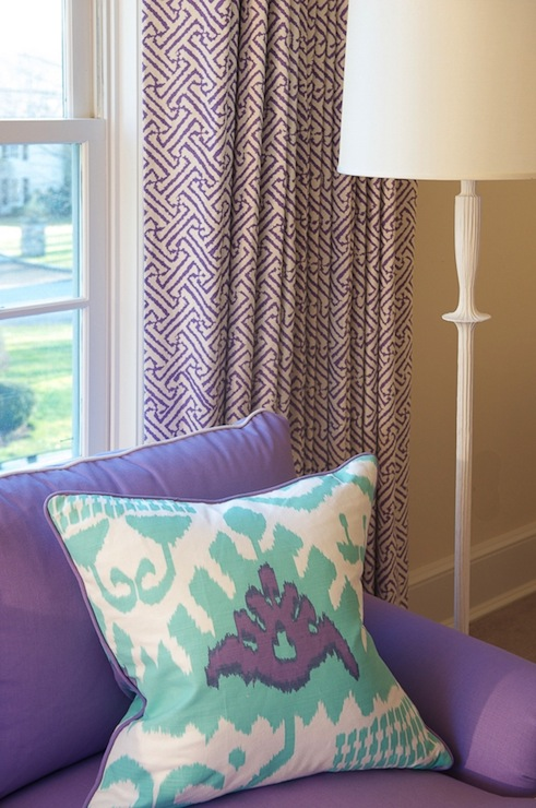 Purple Ikat Curtains Design Ideas