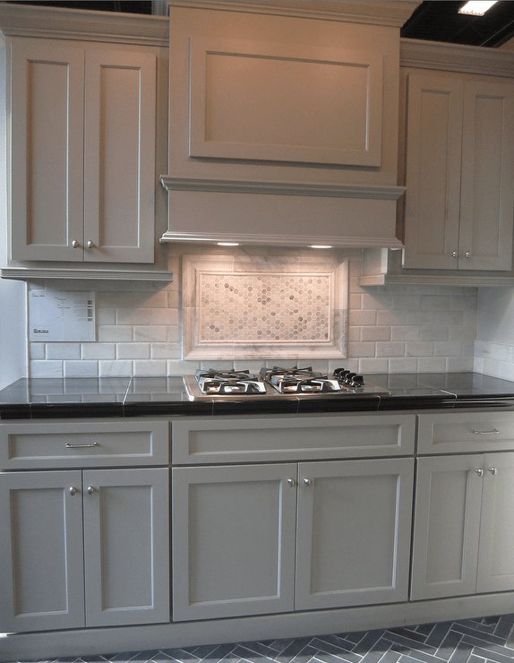 Slate Herringbone Tile Floor Design Ideas