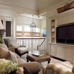 Navy Blue Striped Sofa Tapered Plastic Legs Tv Room Ideas - Transitional Living Lynn Morgan ...