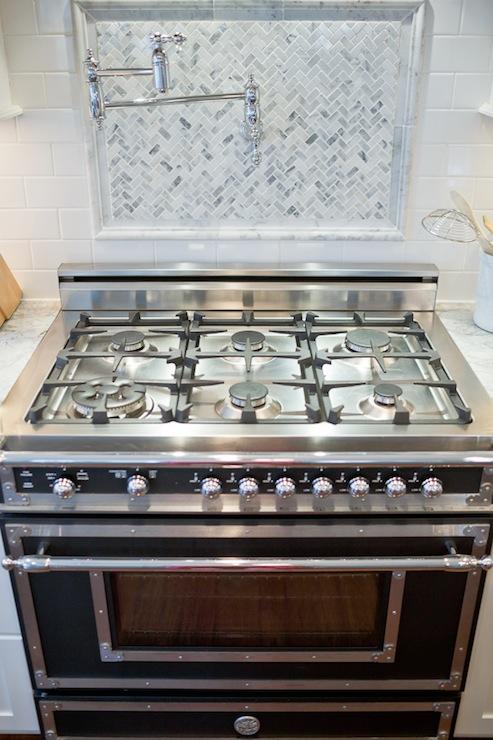 kitchen stove gas outlets swing arm pot filler design ideas
