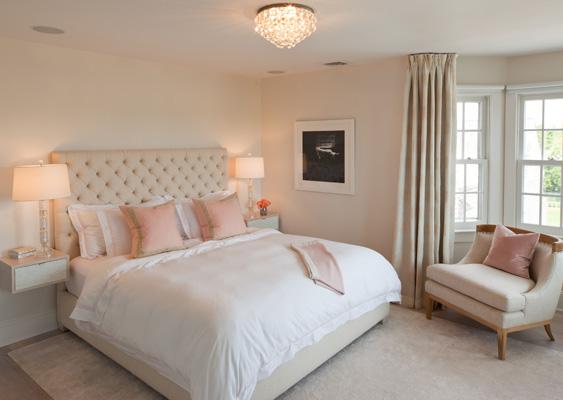 Pink and Beige Bedroom