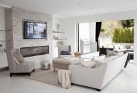 Living-rooms Floating Shelves Design Ideas