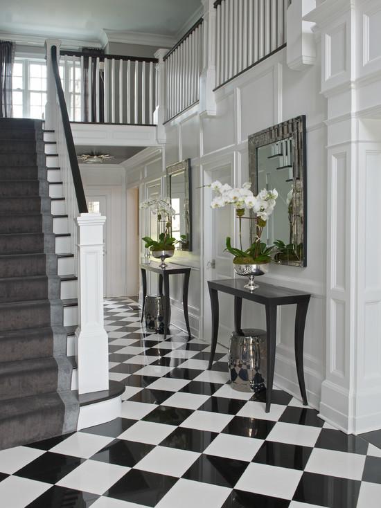 Black And White Checkered Floor Design Ideas