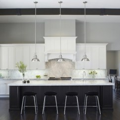 Tiles For Kitchen Backsplash Pull Out Trash Can Black And White Cabinets - Contemporary ...