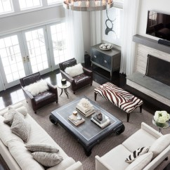 Swivel Chair Sofa Set Round Banquet Covers Zebra Bench - Transitional Living Room Susan Glick Interiors