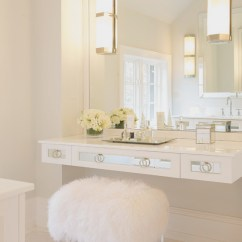 Vanity Chair White Fur Accent With Wooden Arms Floating Mirrored Design Ideas View Full Size