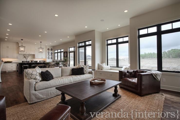 Restoration Hardware Sofa  Transitional  living room