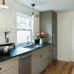 Black And White Tile Kitchen Backsplash Portable Islands For The With No Upper Cabinets Design Ideas