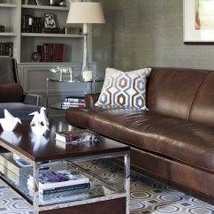 Rugs To Go With Brown Leather Sofa Global Furniture Reclining Hexagon Rug - Transitional Den/library/office Morgan ...