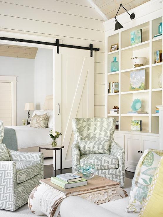Greek Key Chairs Cottage Living Room Tillman Long