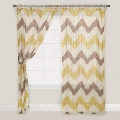 Chevron Living Room Curtains Staircase Designs Yellow And Gray Crinkle Voile Curtain