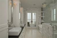 Beaded Mirrors - Transitional - bathroom - HAR