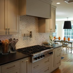 Glass Backsplash For Kitchen Carts Small Kitchens Marble Herringbone - Contemporary ...