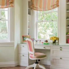 Desk Chair Pad Ikea Stretch Covers Kids Built In - Traditional Girl's Room Jill Litner Kaplan Interiors