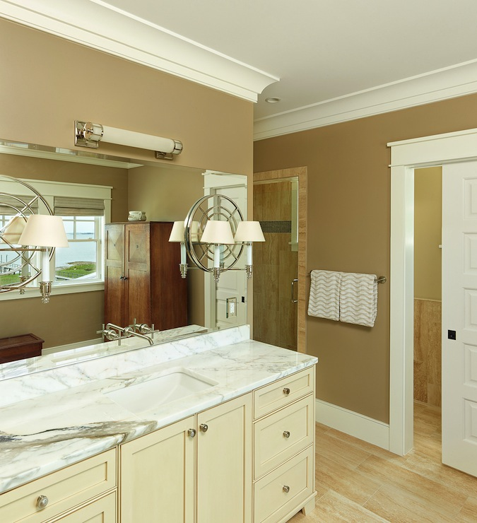 Water Closet With Pocket Door Contemporary Bathroom