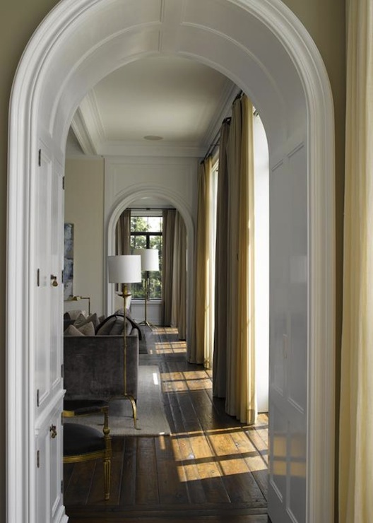 Arched Doorways  Transitional  living room  Heiberg