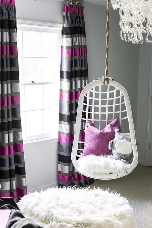 hammock chair stand white banquet hall covers for sale striped curtains - contemporary girl's room b metro