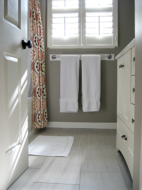 Porcelain Tiles Look Like Wood  Transitional  bathroom
