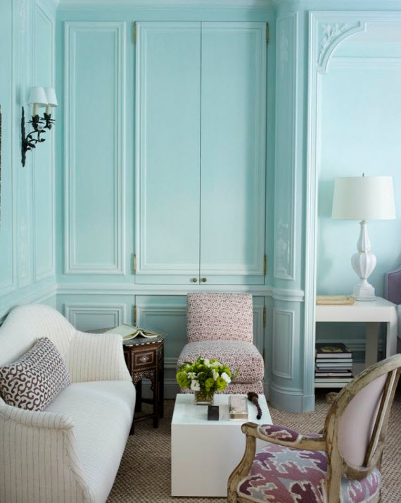 Tiffany Blue Living Room Designs Endearing Wall Color Design Ideas