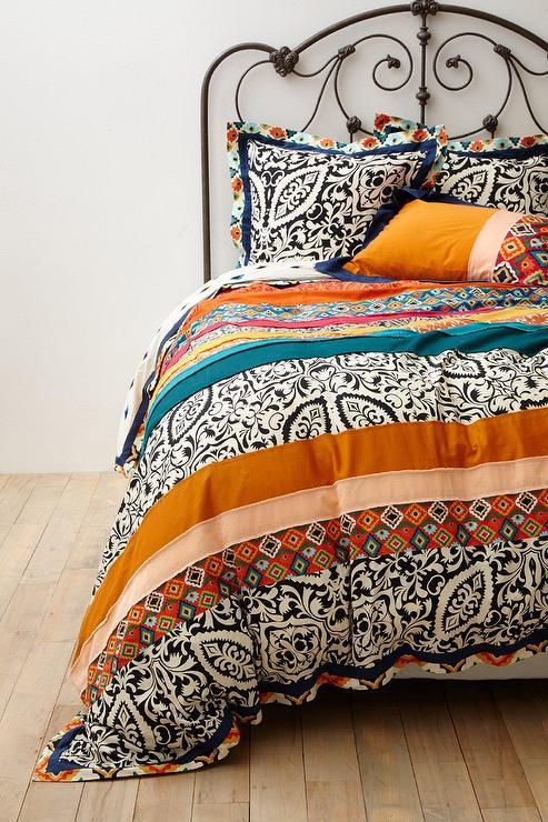 Multicolored Bohemian Print Duvet