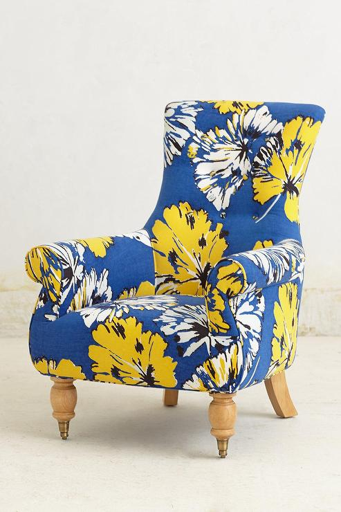 Yellow Chair Accent Gray