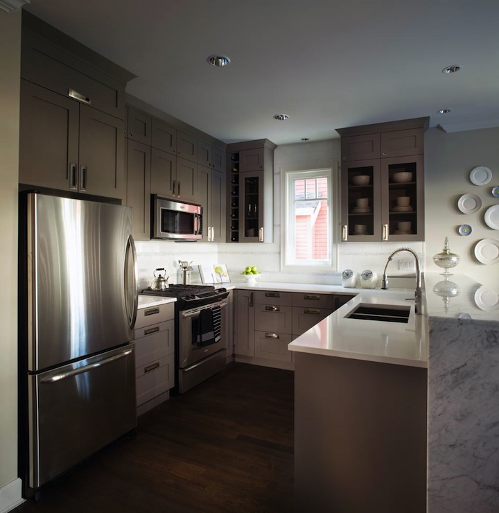 gray kitchen cabinets hood designs kitchens - contemporary kelly ...