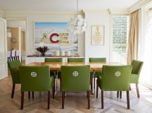 Green Dining Chairs - Eclectic - dining room - Diane ...