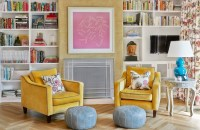 Mustard Yellow Chairs - Contemporary - den/library/office ...