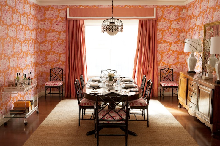 cushions for dining room chairs chair covers with arms wedding orange curtains - eclectic diane bergeron interiors