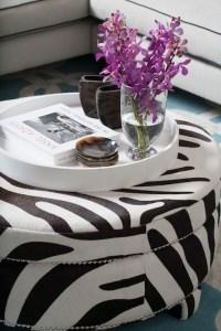 Zebra Ottoman - Contemporary - living room - Diane ...