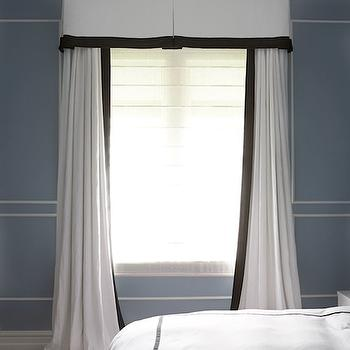 Girl Bedroom Wallpaper Border White Curtains With Trim Design Ideas