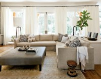 Linen Slipcovered Sectional - Transitional - living room ...
