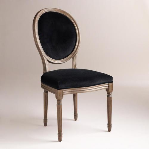 black velvet chair wicker lounge chairs sale set of 2 seat ella side