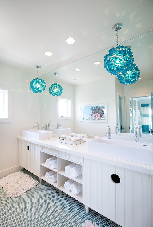 Turquoise Vanity  Contemporary  bathroom  Dwell