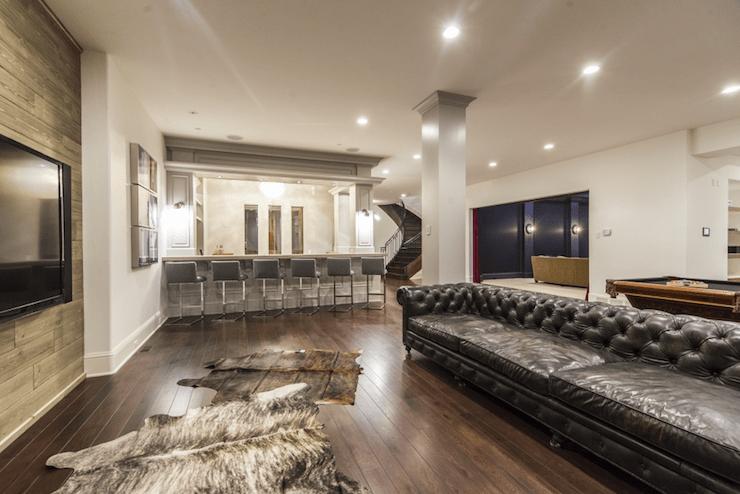 navy leather chesterfield sofa clearance sales basement wet bar - design, decor, photos, pictures, ideas ...