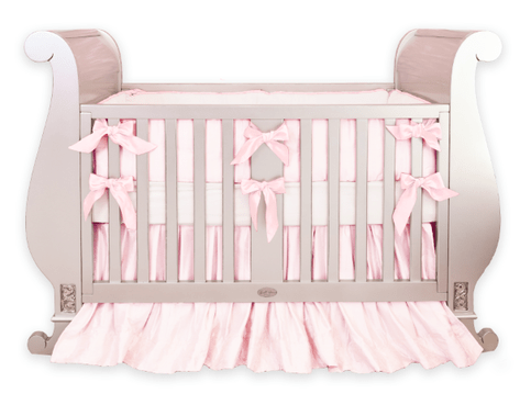 baby pink silk crib